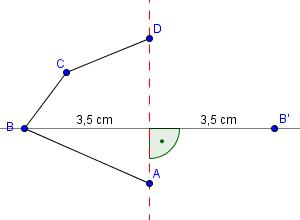 Beispiel Achsenspiegelung Schritt 3