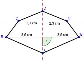Beispiel Achsenspiegelung Schritt 4