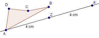 Beispiel Punktspiegelung Schritt 2