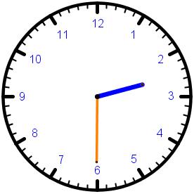 Die Uhr - halb 3