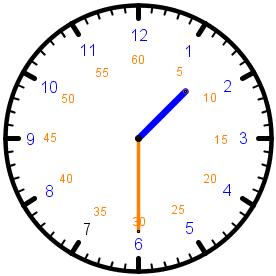 Die Uhr - halb 2