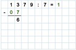 Dividieren - 1. Beispiel Schritt 3