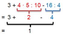 Punkt- vor Strichrechnung