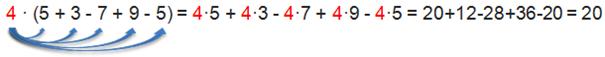 Distributivgesetz - Beispiel viele Summanden 1
