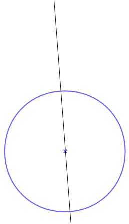 Gerade durch Mittelpunkt