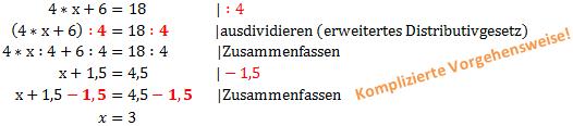 Beispiel 2: Gleichung Umformen 1