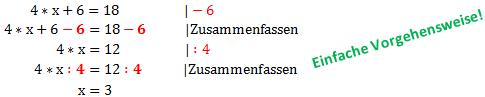 Beispiel 2: Gleichung Umformen 2