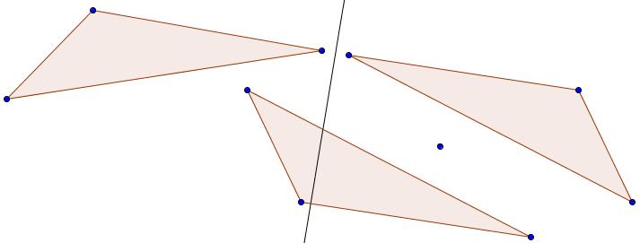 drei kongruente Dreiecke