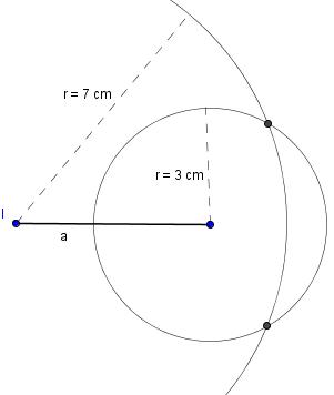 Beide Kreise mit Schnittpunkten