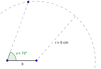 Kreis für Seite c