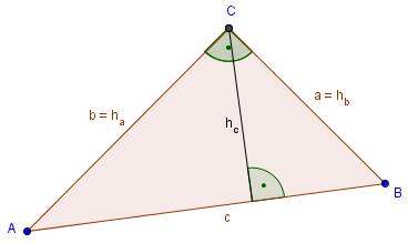 Höhenlinien bei einem rechtwinkligen Dreieck