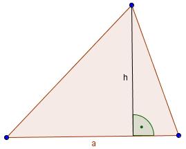 Dreieck mit Höhe