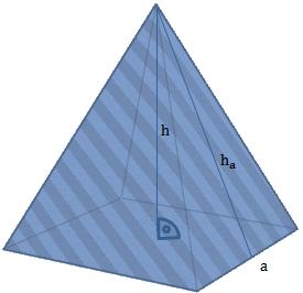 pyramide berechnung des volumens und der oberfl che. Black Bedroom Furniture Sets. Home Design Ideas