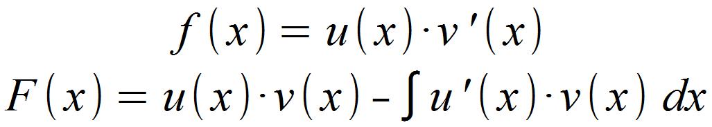 Formel für partielle Integration