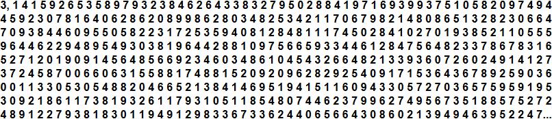 Dezimalstellen von Pi