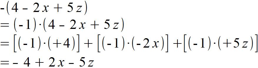 Klammern aufloesen - Beispiel 2