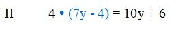 Gleichung II einsetzen