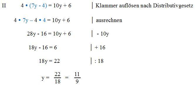 Gleichung mit nur einer Variablen