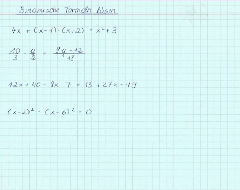 Binomische Formeln Verständlich Ausführlich Erklärt