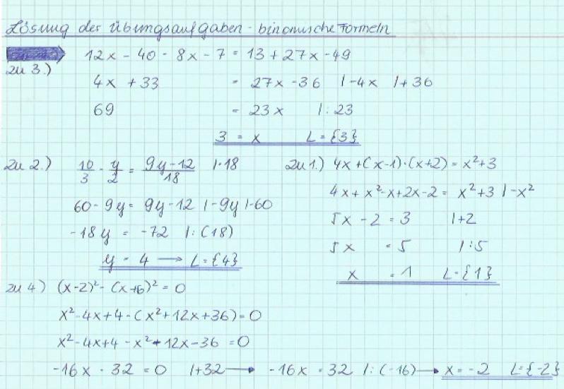 Binomische Formel 2